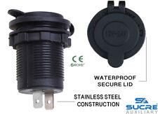 12V/24V Waterproof Power Motorcycle Boat Car Cigarette Lighter Socket Plug