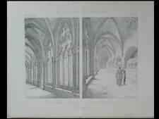 TARRAGONE, MONASTERE SANTES CREUS - 4 PLANCHES - CONSTRUCTION MODERNE n°32 1893
