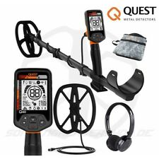 Quest q40 Metal Detector Saving Set + Wireless RF Headphones + Deep Search coil