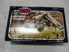 2013 Star Wars Vintage Attack of the Clones Republic Gunship