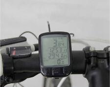Waterproof Cycle Bicycle Bike DEL ordinateur Compteur de Vitesse Odometer Rétroéclairage mètres