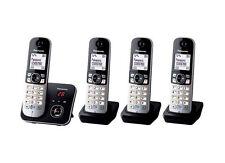 Panasonic KX-TG6824 Quatro DECT-Schnurlostelefon mit AB schwarz-Silber