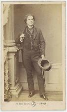 CDV circa 1865. Henri Lafontaine, acteur, dramaturge et romancier français.