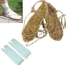 COSPLAY BLEACH STRAW SANDALS SLIPPER SHOES SOCKS size L 8-10.5(Men) 9.5-12 women