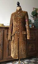 Magnifique Manteau Antik Batik Taille 38 Vintage Authentique En  Velours