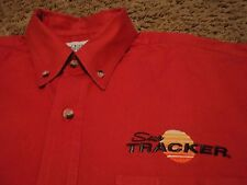 Men's SUN TRACKER BOATS Marine Front Button Short Sleeve Shirt Size Large
