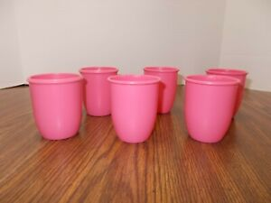 Lot of 6 Pretend Play PINK CUPS for Little Tikes -Excellent Shape