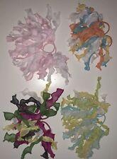 Set of 11 Gymboree Organza Pony Tail Hair Elastic Ties Lot  3 4 5 6 7 8 9