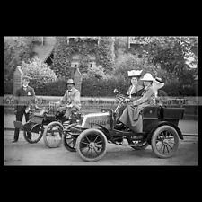 #pha.031130 photo de dion bouton quadricycle & darracq 6.5 hp 1901 car auto