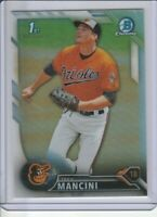 TREY MANCINI (2016) Bowman Chrome RC Rookie Card REFRACTOR (#'D /499) ORIOLES