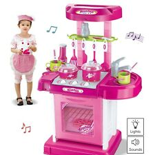 Vokodo Deluxe Toy Kitchen Playset 2 Feet Tall With Pots Oven Stove Nd More TK-30