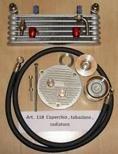 Honda CB72 CB77 Cappellini #118 engine side cover, oil filter, lines, oil cooler