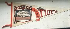 Vtg MLB Detroit Tigers Baseball Pennant 1969 Photograph Team Picture