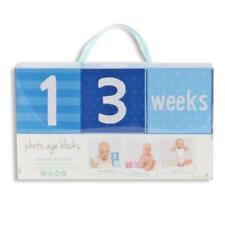Keepsake Blue Baby Boy Month Age Blocks First Photo Baby Picture Prop Keepsake