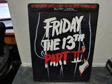 Friday the 13th Part II 2 (1981) Steelbook (Blu-ray+digital) Region 0 Canadian