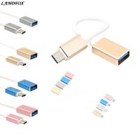 Portable Aluminum USB 3.1 Type C Male to USB 3.0 A Female OTG Data Cable Cord