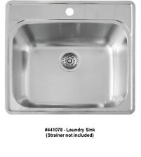 BLANCO 441078 ESSENTIAL Single Bowl Drop In Stainless Steel Utility Laundry  Sink