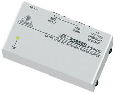 Behringer Micropower Ps400-Ultracompacta 48v Phantom Power Supply *** Nueva ***