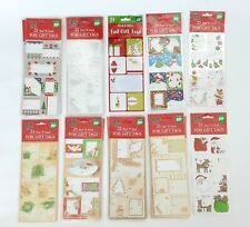 651 Foil Holiday Gift Tags Peel N' Stick Stickers Various Designs Bundle Lot 31