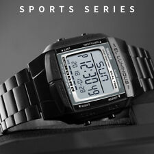 Black SKMEI Watch Sport Mens Watches 5 Alarm Waterproof Digital LED Wristwatch