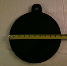 "AR500 Steel Target 10"" Single Hole. Watch Video. Free Shipping! Bullseye Metals"