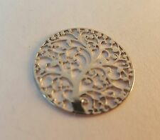 Silver Tree of Life 22mm round disc plate for Floating Charm Locket US seller