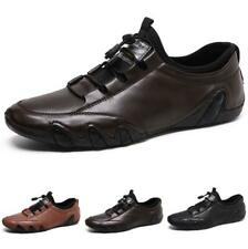 Mens Leisure Leather Shoes Driving Moccasins Pumps Slip on Loafers Flat Casual L