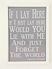 A4 Print Poster Picture Gift Lyrics Song Typography Baby Nursery Child's Room