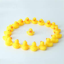 20pcs Mini Yellow Rubber Ducks Bathtime Squeaky Bath Toy Water Play Kids Toddler