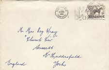 1960 Australia Melbourne Cup horse race stamp issues cover to England postmarked