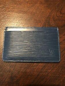 Louis Vuitton Card Holder - Teal Blue Epi Leather Excelient Condition No Box