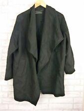 Zara Woman Cape Coat Jacket Sz M Black Wool Mix