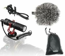 Universal Video Microphone with Shock Mount Deadcat Windscreen Camera iphone