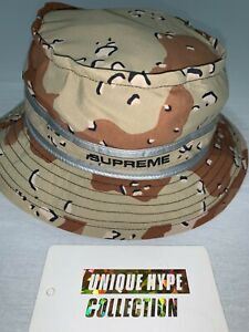 SUPREME 2019 S/S CONTRAST STITCH CRUSHER HAT S/M BUCKET CAMP CAP BOX LOGO TAB
