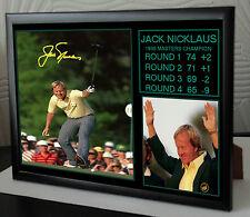 Jack Nicklaus maestros Lienzo Enmarcado Retrato Firmado 1986