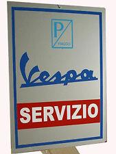 TARGA VESPA SERVIZIO SU LASTRA ALLUMINIO   cm 30 x 40 -  RIPRODUZIONE  D' EPOCA