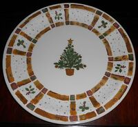 Pier 1 NATURAL CHRISTMAS PATTERN Chop Plate/Platter ENGLAND