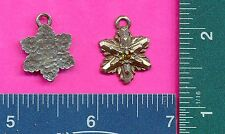 lead free pewter flower pendant with a green stone 4068-1