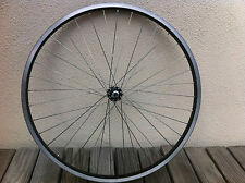 "BICYCLE ALLOY FRONT WHEEL 26"" X 1.75 MACHINE-POLISHED BLACK/SILVER CRUISER BMX"