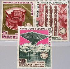 CAMEROUN KAMERUN 1967 525-27 C92-94 EXPO 67 Exhibition Montreal Ausstellung MNH