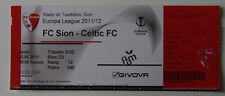 old TICKET EL FC Sion Switzerland Suisse Celtic FC Glasgow Scotland