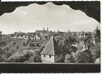 Ansichtskarte Rothenburg ob der Tauber - Stadtblick von der Jugendherberge - s/w