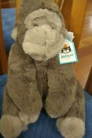 "Jellycat Gregory Gorilla Gray Plush 12"" Soft Toy Stuffed Animal New Medium"
