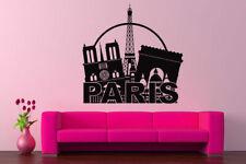 Wall Vinyl Sticker Room Decals Mural Design Paris France Buildings City bo1197