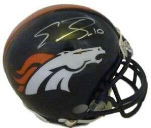 Emmanuel Sanders Autographed Denver Broncos Riddell Mini Helmet JSA 10076