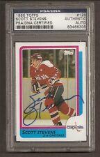 Scott Stevens Devils 1986 Topps Card #126 Signed Auto PSA/DNA ENCAPSULATED