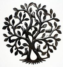 Metal Tree of Life with Birds Caribbean Decor Steel Art Metal Wall Artwork, 24""