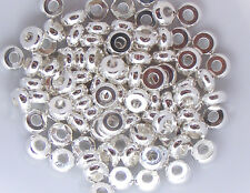 100 Donut Spacer Beads 4mm (SP067) FREE POSTAGE