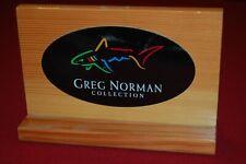 Greg Norman Vintage Shark Wooden Block Sign