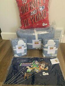 Pottery Barn Kids Disney Pixar TOY story FULL QUEEN QUILT shams + decor pillows